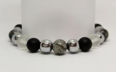 Kép 1/2 - Immunerősítő, sejtregeneráló, védő női ásvány karkötő
