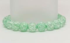Kép 1/2 - Zöld roppantott hegyikristály ásvány karkötő