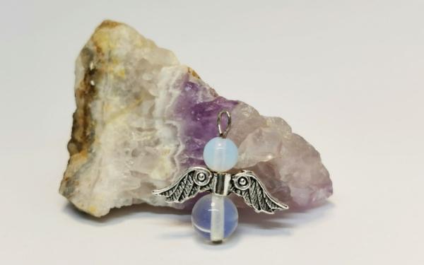 Opál angyal medál - 1